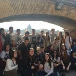 Buscando sombra en el Castillo de Sant'Angelo