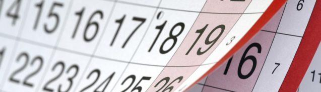 Calendario FIN de CURSO 2º BACH.