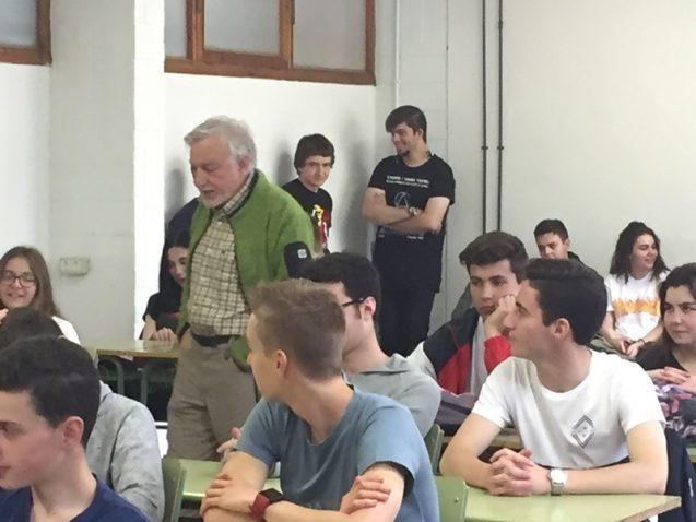 Visita del científico JAVIER CACHO