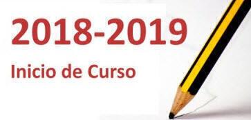 Inicio de curso 2018-2019