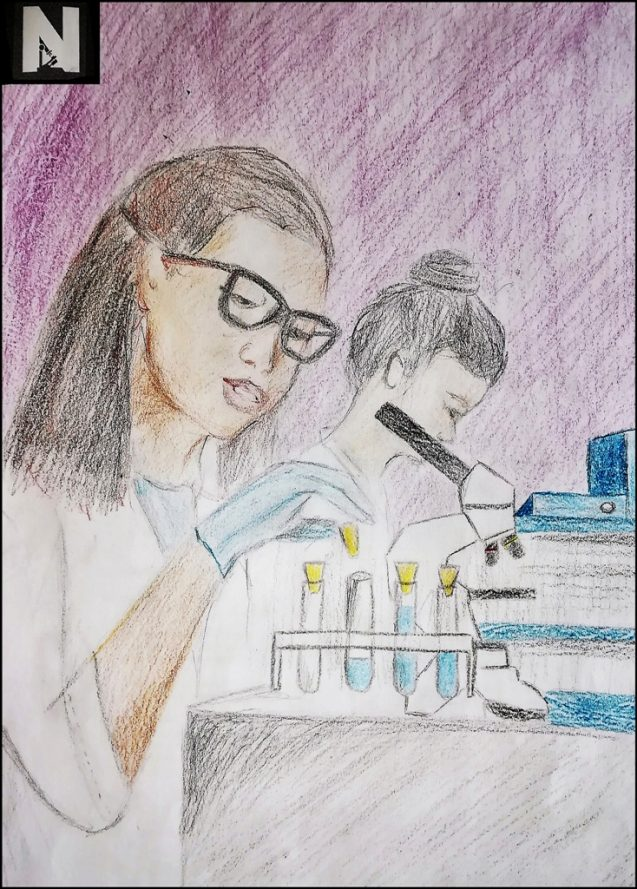 Dibuja a una científica