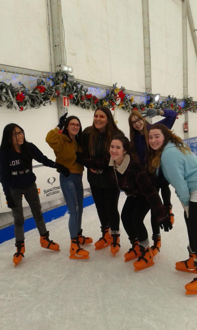 Patinaje sobre hielo… comienza la Navidad
