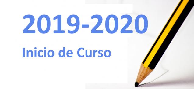 Inicio de curso 2019-2020