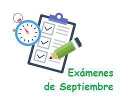 Pruebas EXTRAORDINARIAS septiembre 2021